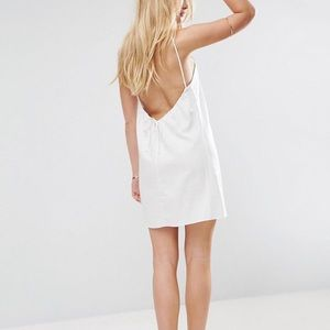 Linen Scoop Back Dress